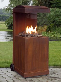 kaminwunder online shop gaskamin thebuzz corten stahl gaskamin gas the buzz gartenkamin. Black Bedroom Furniture Sets. Home Design Ideas